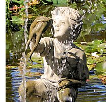 Boy and Fish Water Fountain Tyler Rose Garden Center Photographic Print
