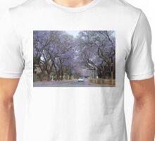 STOP!  jacarandas ahead Unisex T-Shirt