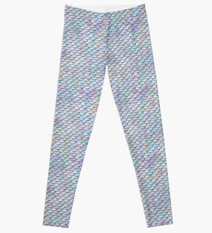 Pastel Mermaid Tail Pattern Leggings