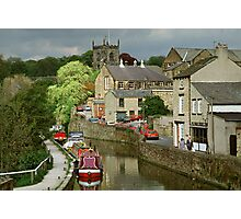 The Canal basin in Skipton. N. Yorkshire, England, UK, 1980s. Photographic Print