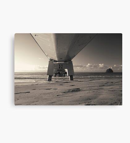 Morning Sea Pier Canvas Print