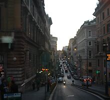 Streets of  Rome by Margaret  Shark