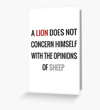 Tywin Lannister Quote Greeting Card