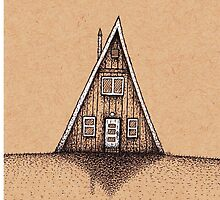 A-frame House on a Clear Day by Nate Armstrong
