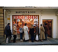 Queuing at a Butchers shop, England, UK, 1980s Photographic Print