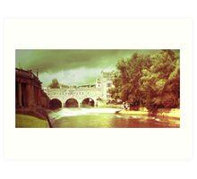 Rolling on a river, Bath - England Art Print