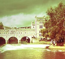 Rolling on a river, Bath - England by Caroline Hannessen