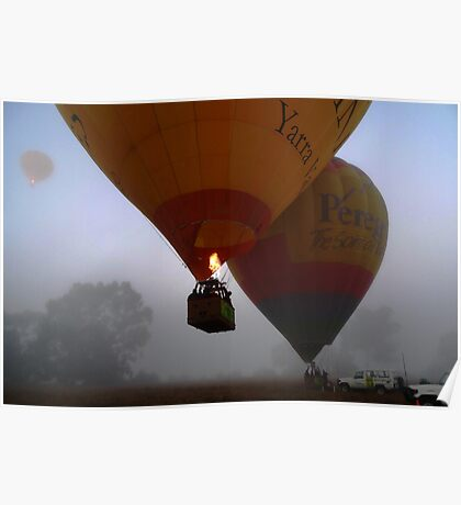 Balloon Launch, Yarra Valley Poster