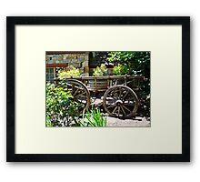 Garden Cart - Hahndorf Framed Print