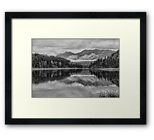 Black and white mountains Framed Print