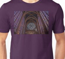 France. Paris. Sainte-Chapelle. The Upper Chapel. Unisex T-Shirt