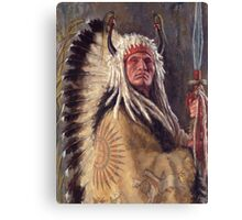 Black Rock Two Kettle Chief, Native American Art, James Ayers Studios Canvas Print