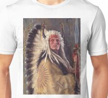 Black Rock Two Kettle Chief, Native American Art, James Ayers Studios Unisex T-Shirt