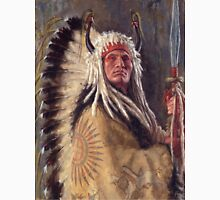 Black Rock Two Kettle Chief, Native American Art, James Ayers Studios Unisex T-Shirt