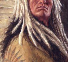 Black Rock Two Kettle Chief, Native American Art, James Ayers Studios Sticker