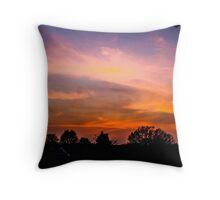 Painterly Sunset  Throw Pillow