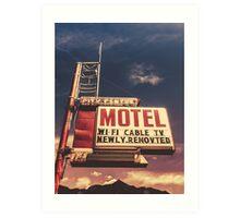 Retro Vintage Motel Sign Art Print