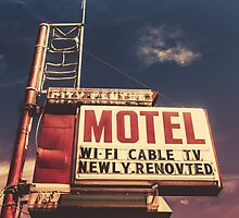 Retro Vintage Motel Sign by mrdoomits