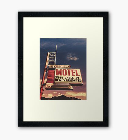 Retro Vintage Motel Sign Framed Print