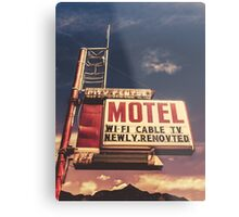 Retro Vintage Motel Sign Metal Print