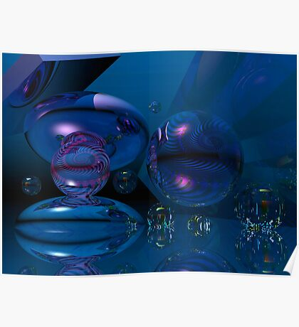 Blue bubbly dream Poster