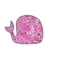 Whale: Pink Photographic Print