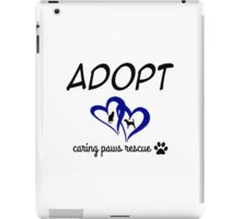 Caring Paws Rescue (blue) iPad Case/Skin
