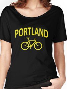 I Bike Portland, Oregon Women's Relaxed Fit T-Shirt