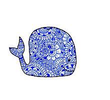 Whale: Royal Blue Photographic Print