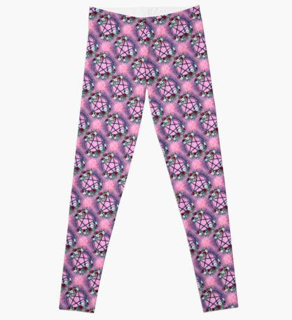 Twigs and Roses Pattern Leggings