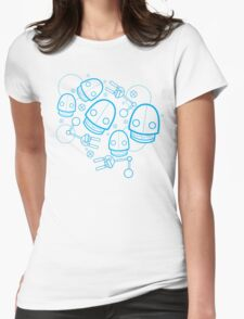 Spaztic Bots Womens Fitted T-Shirt