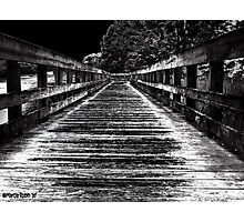 Moonlit Pier Photographic Print