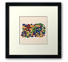 Jazzy Cromatik 5 Superheroes Framed Print