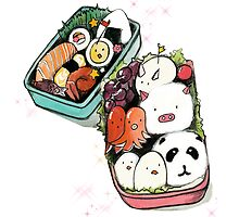 kawaii Bento Box by burntfeather