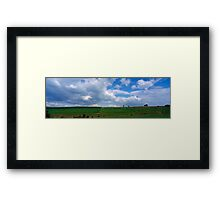 Ardennes landscape with cows Framed Print