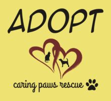 Caring Paws Rescue (red) Kids Clothes
