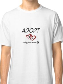 Caring Paws Rescue (red) Classic T-Shirt