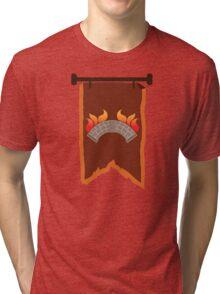 BANNER CREST SIGIL burning bridge BRIDGEBURNERS Tri-blend T-Shirt