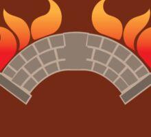 BANNER CREST SIGIL burning bridge BRIDGEBURNERS Sticker