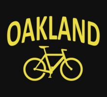 I Bike Oakland, California One Piece - Short Sleeve