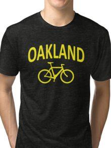 I Bike Oakland, California Tri-blend T-Shirt