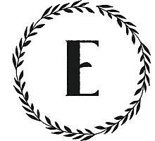 Monogram Wreath - E Photographic Print
