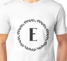 Monogram Wreath - E Unisex T-Shirt