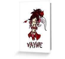 Chibi Vayne Greeting Card