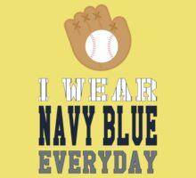 I Wear Navy Blue Baby Tee
