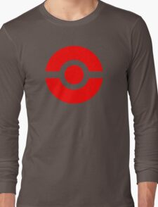Pokeball Icon Red Long Sleeve T-Shirt