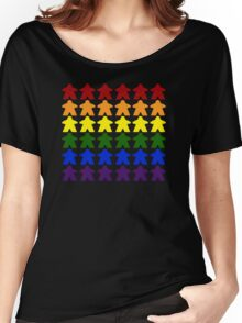Gay Pride (Meeple Edition) Women's Relaxed Fit T-Shirt