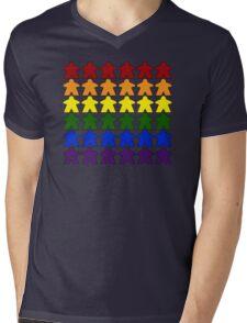 Gay Pride (Meeple Edition) Mens V-Neck T-Shirt
