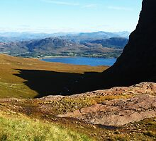 Bealach Na Ba ~ On The Way Down to Loch Kishorn by artwhiz47