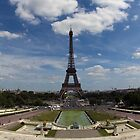 Eiffel Tower taken from from The Trocadero. by Russell Bruce